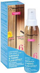 "Blond Time 6 Lightening Hair Spray 2 in 1 - Изсветляващ спрей за коса 2 в 1 ""Blond Time"" - гел"