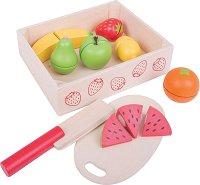 Плодове за рязане - Комплект дървени фигури за игра в щайга - творчески комплект