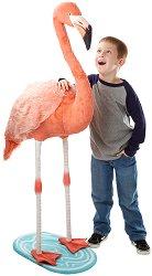 Фламинго - Плюшена играчка с височина 141 cm -