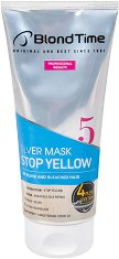 """Blond Time 5 Silver Mask Stop Yellow - Маска за руса и изрусена коса против жълти оттенъци от серията """"Blond Time"""" -"""