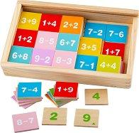 Събиране и изваждане - Детски дървен образователен комплект -