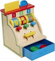 Касов апарат - Детски дървен комплект за игра -