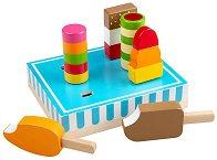 Сладолед и ледени близалки - Детски дървени играчки -