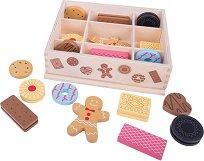 Кутия с бисквити - Детски дървен комплект за игра -