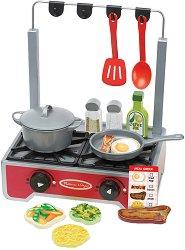 Кухня - Дървен детски комплект с аксесоари -