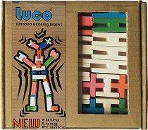 Дървен конструктор - Luco - Комплект от 42 части -