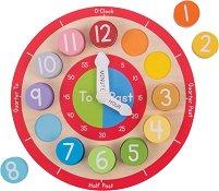 Часовник - Детска дървена играчка за сортиране -