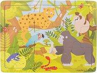 Джунгла - Дървен пъзел в рамка -