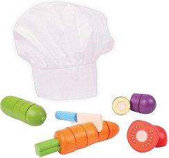 Зеленчуци за рязане - Малък готвач  - Детски комплект за игра -
