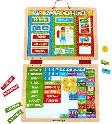 Магнитен календар - Дървена образователна играчка - играчка