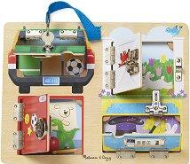 Какво се крие зад врата - Детски дървен комплект за игра - играчка