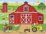 Във фермата - Дървен пъзел със звукови ефекти -