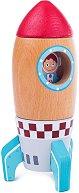 Дървена ракета - Детска играчка -
