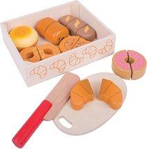 Сладкиши за рязане - Детски дървен комплект за игра -