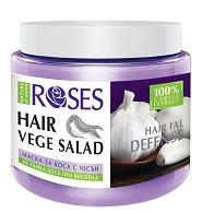 Nature of Agiva Roses Vege Salad Mask Hairfall Defense - Възстановяваща маска против косопад за тънка коса - фон дьо тен