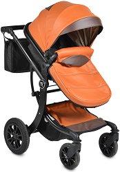Комбинирана бебешка количка - Sofie: Leather - С 4 колела -