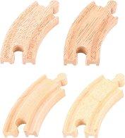 Извити дървени ЖП релси - играчка