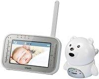 Дигитален видео бебефон - BM4200 Bear - С температурен датчик, 5 мелодии, нощно виждане и възможност за обратна връзка -