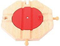 """Обръщателна платформа с 4 изхода - Дървена играчка за влакова композиция от серията """"Rails"""" -"""