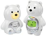 Дигитален бебефон - BM2350 Bear - С температурен датчик, 5 мелодии, нощна светлина и възможност за обратна връзка -