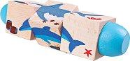 Въртящи кубчета - Океан - Детска дървена играчка - играчка