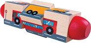 Въртящи кубчета - Превозни средства - Детска дървена играчка - играчка