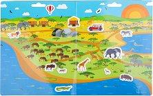 Сафари - Детски образователен комплект с многократни стикери - творчески комплект