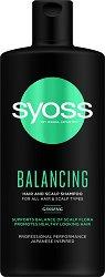 Syoss Balancing Hair & Scalp Shampoo - Балансиращ шампоан за всеки тип коса и скалп - маска