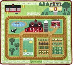 Килимче за игра - Ферма - В комплект с животни и количка -