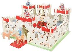 Замъкът на Крал Артур - Детски дървен комплект за игра с аксесоари - играчка