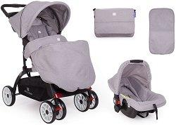 Бебешка количка 2 в 1 - Airy - С 4 колела -