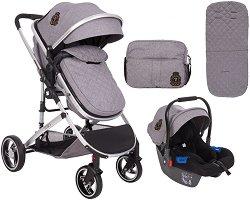 Бебешка количка 2 в 1 - Tiara - С 4 колела -