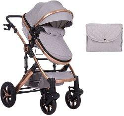 Комбинирана бебешка количка - Darling 2020 - С 4 колела -