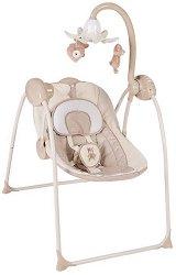 Бебешка люлка -  Lulla: Bear Boo - С музика, светлини и захранващ адаптер -