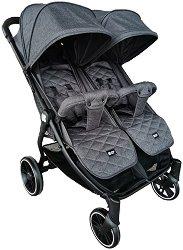 Бебешка количка за близнаци - Happy 2 2020 - С 4 колела -