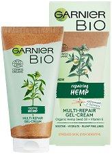 """Garnier Bio Hemp Multi-Repair Gel-Cream - Възстановяващ дневен гел-крем за лице с масло от коноп от серията """"Garnier Bio"""" -"""