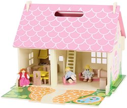 Куклена къща с обзавеждане - Цветя -