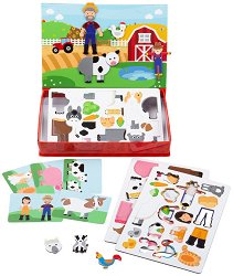 Ферма - Детски магнитен комплект за игра - играчка