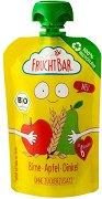 Fruchtbar - Био пюре с круши, ябълки и спелта - Рециклируема опаковка от 100 g за бебета над 6 месеца - пюре