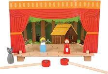 Куклен театър - Детски дървен комплект за игра с магнити -