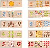 От 1 до 10 - Дървен образователен пъзел -