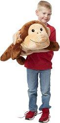 Маймуна - Мека играчка за гушкане -