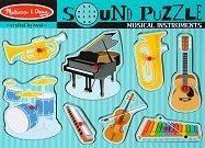 Музикални инструменти - Дървен пъзел със звукови ефекти -