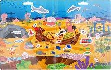 Подводно приключение - Детски образователен комплект с многократни стикери  -