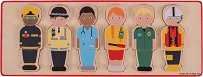 Професии - Дървен образователен пъзел - пъзел