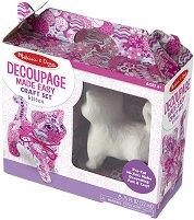 Комплект за декупаж - Коте - Творчески комплект - фигура