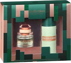 Antonio Banderas Mediterraneo - Подаръчен комплект за мъже с парфюм и дезодорант - душ гел