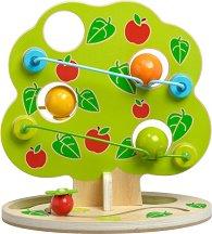 Ябълково дръвче - Дървена писта с 3 топки -