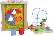 Дидактически куб - Сезони - Детска дървена образователна играчка  -