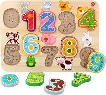 Животните от фермата - Дървена образователна играчка за сортиране -